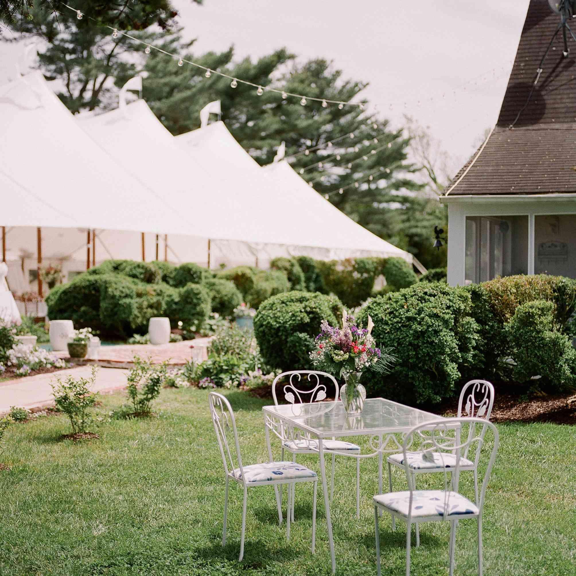 Outdoor backyard wedding venue