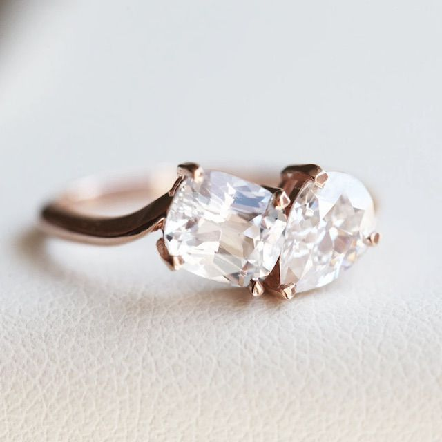 Capucinne Alexandra Two Stone Diamond Ring