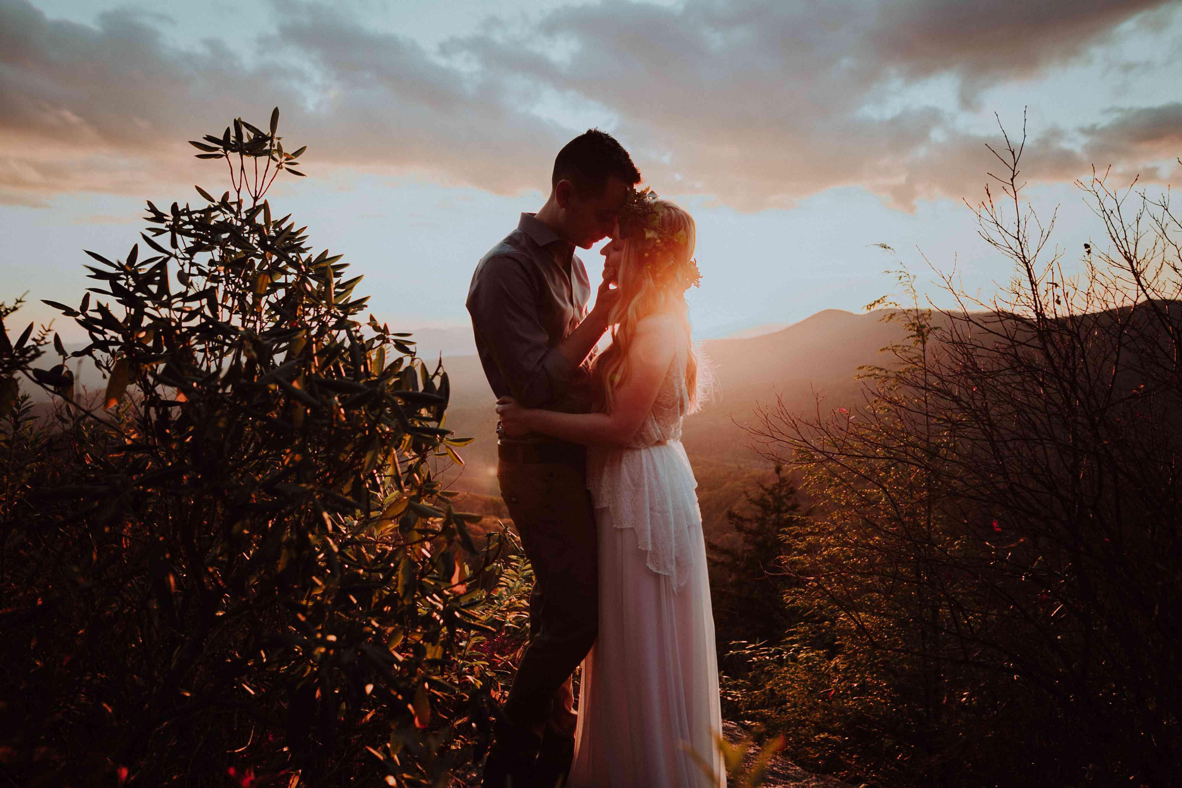 <p>Wedding photo at Blue Ridge Parkway</p>