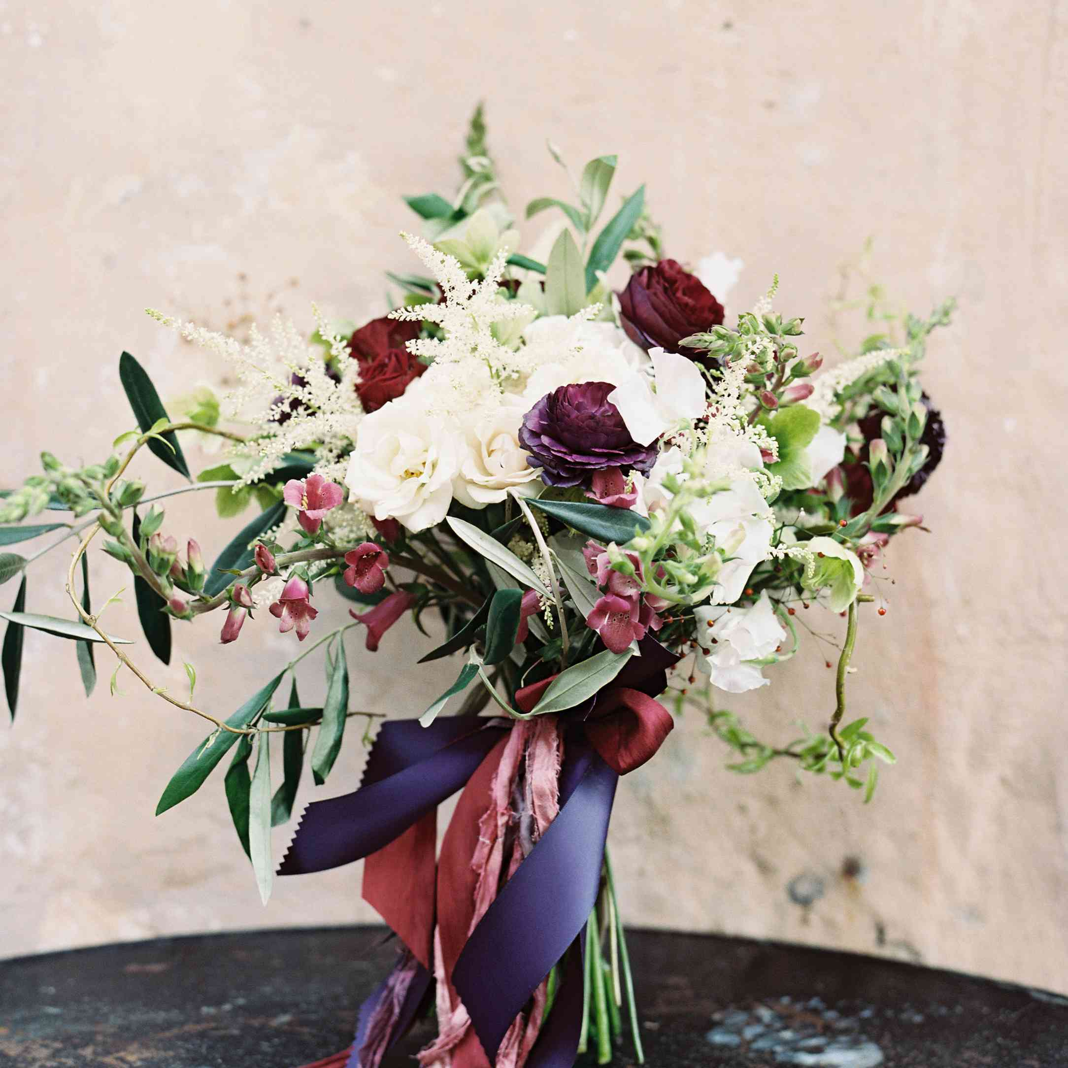 Romantic Bouquet with Ribbon