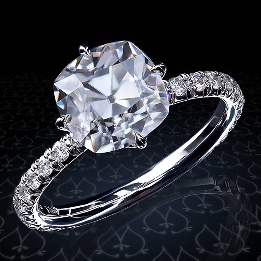 59b1fbee464cb 57 Exquisite Cushion-Cut Engagement Rings