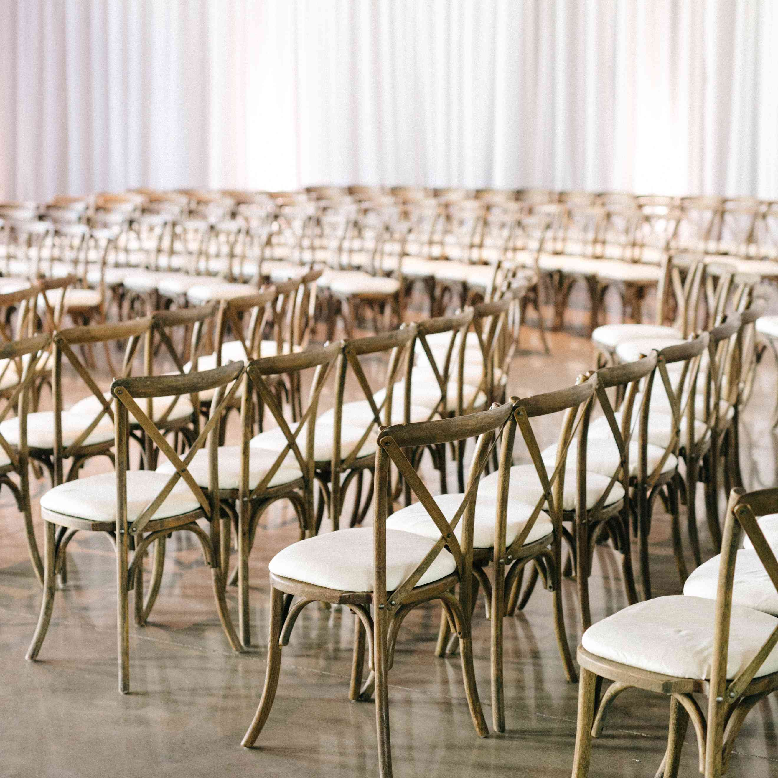 <p>Chairs at ceremony</p><br><br>