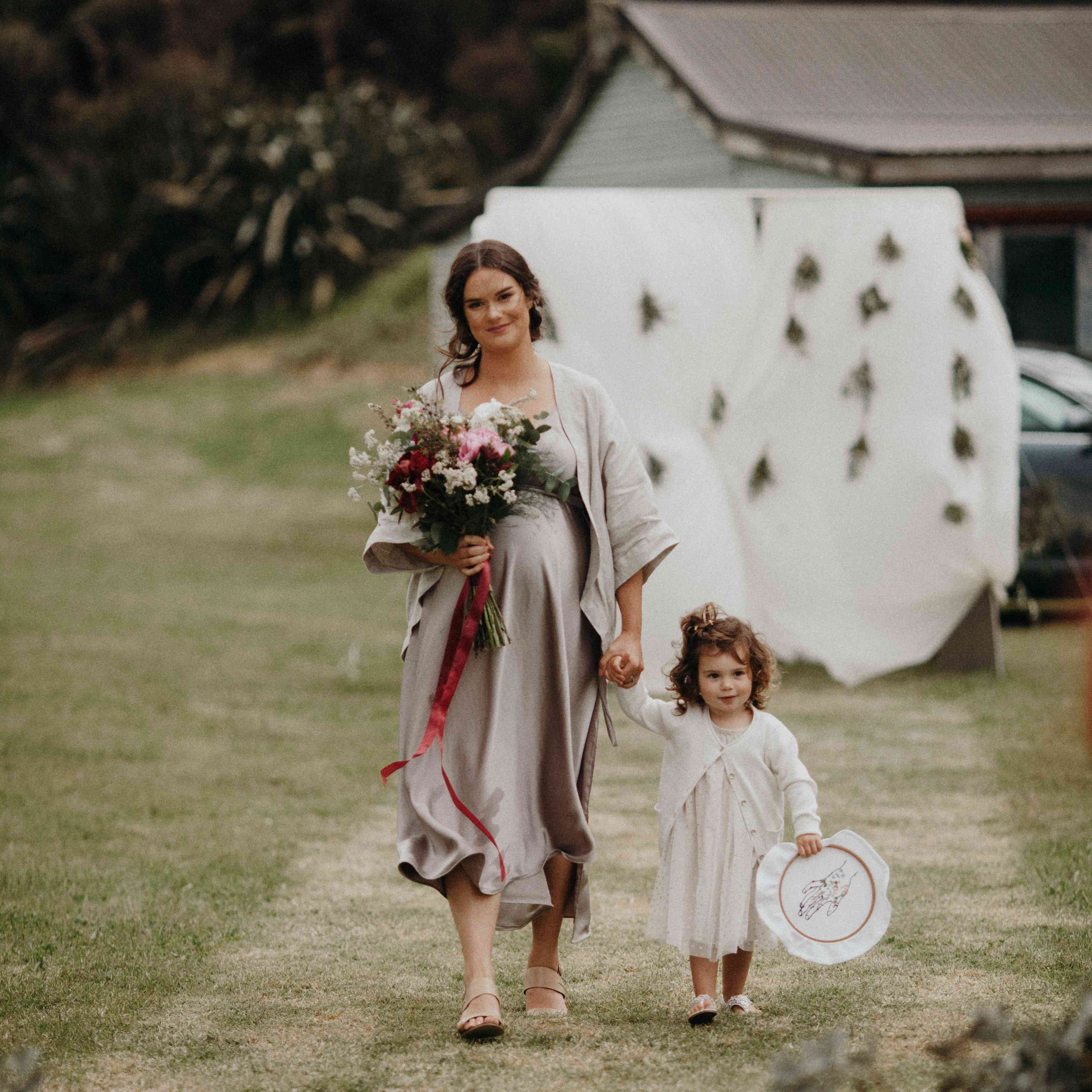 Bridesmaid with Flower Girl