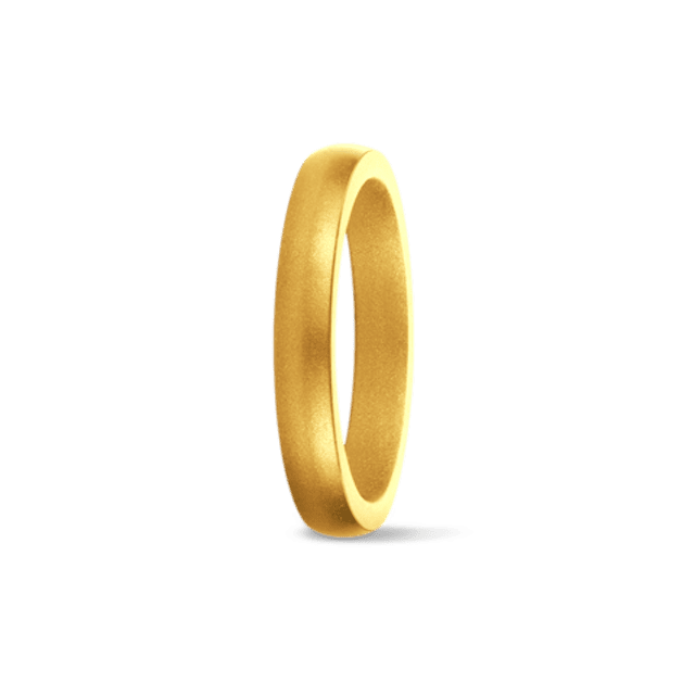 SafeRingz Stackable Gold Metallic Silicone Wedding Band