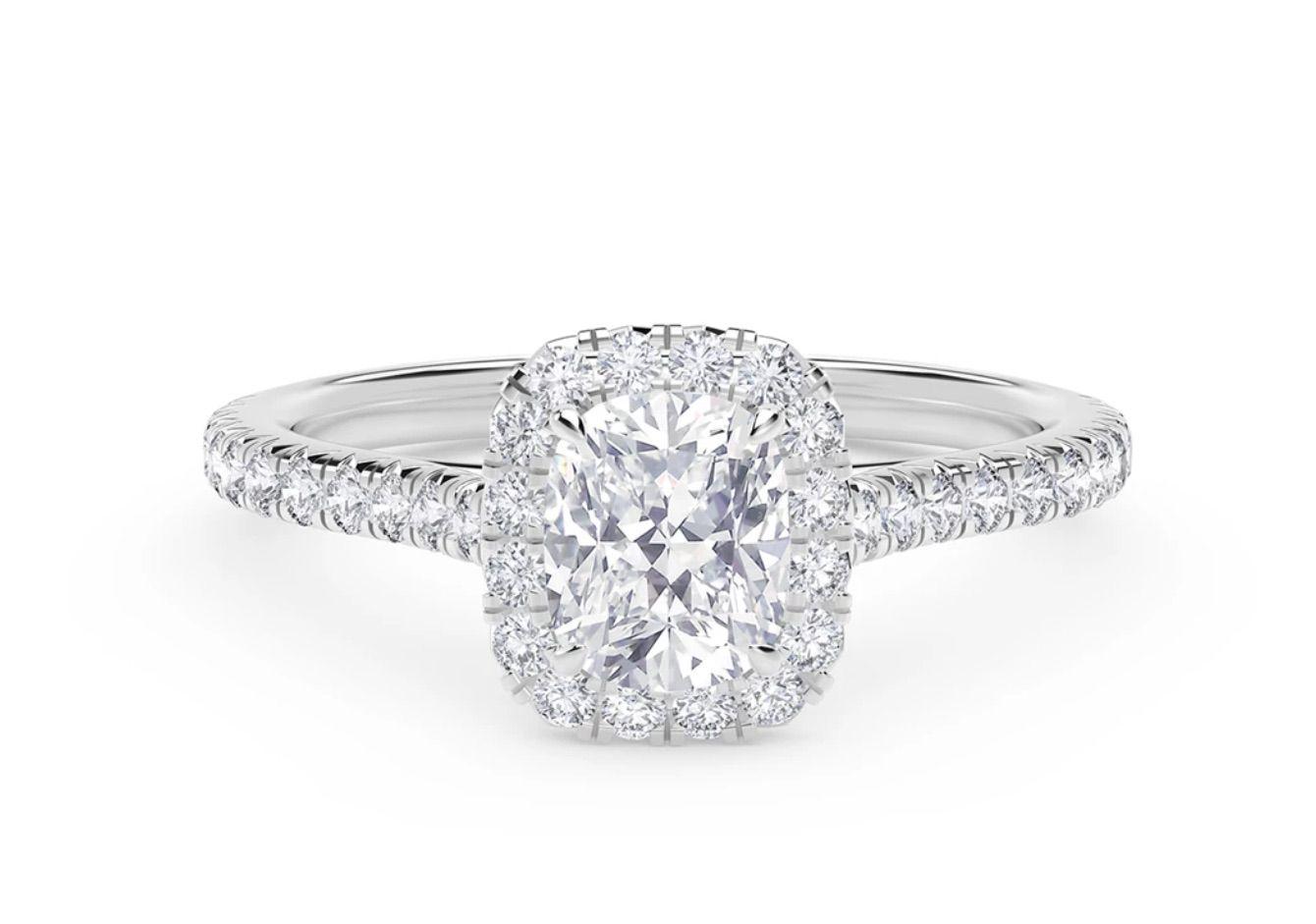 Forevermark Center of My Universe® Cushion Halo Engagement Ring