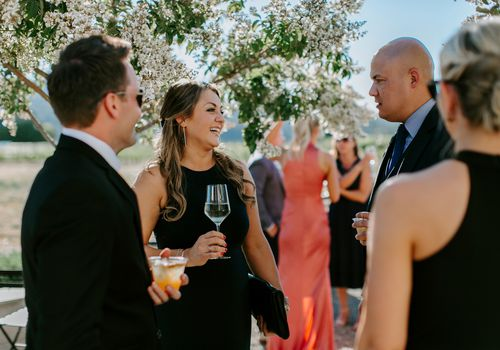 black to a wedding