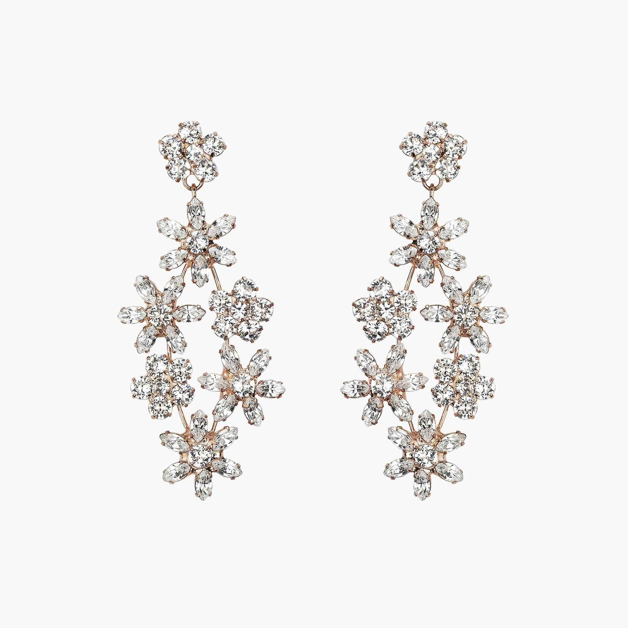 Rose Gold Floral Earrings