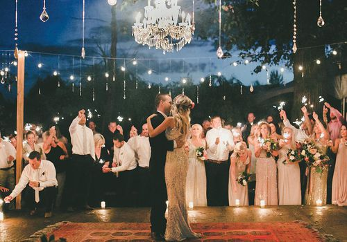 Couple dancing at reception