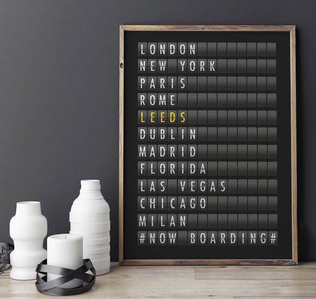 Personalized Airport Destination Board