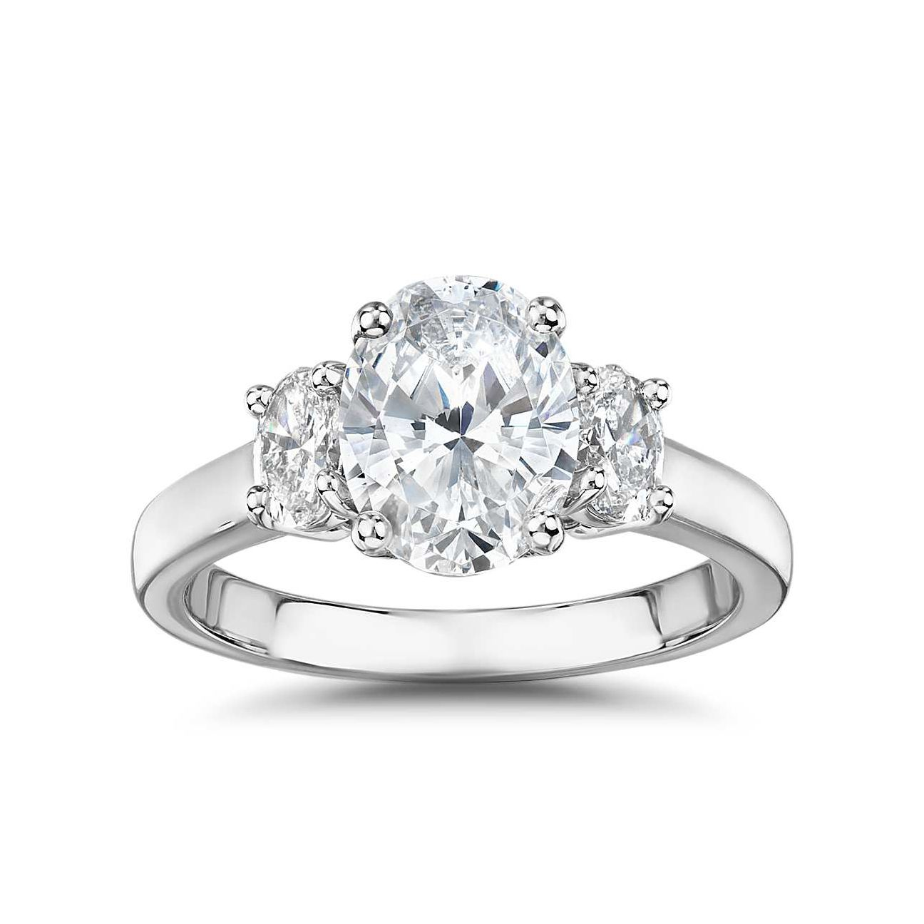 Blue Nile The Gallery Collection™ Oval-Cut Three-Stone Diamond Engagement Ring
