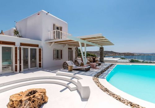 A vacation home with a fire pit and pool in Greece