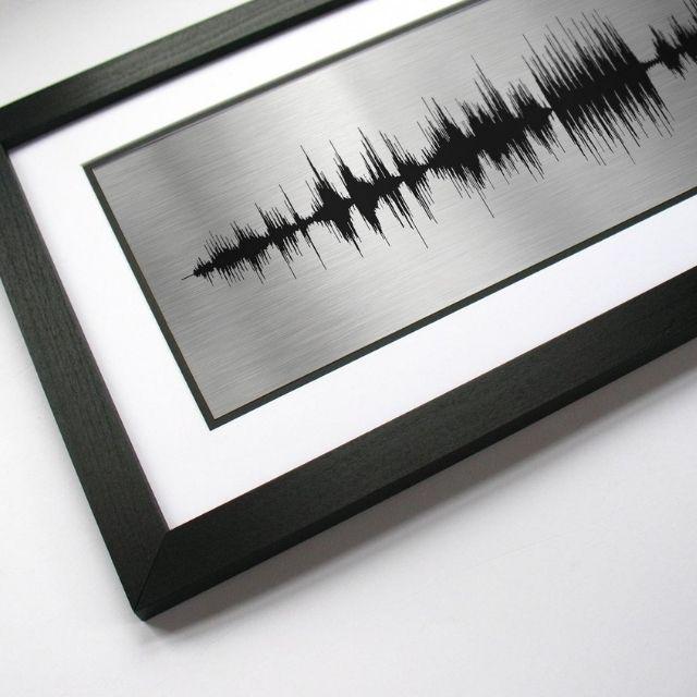 VoiceAndSound Soundwave Song Metal Print