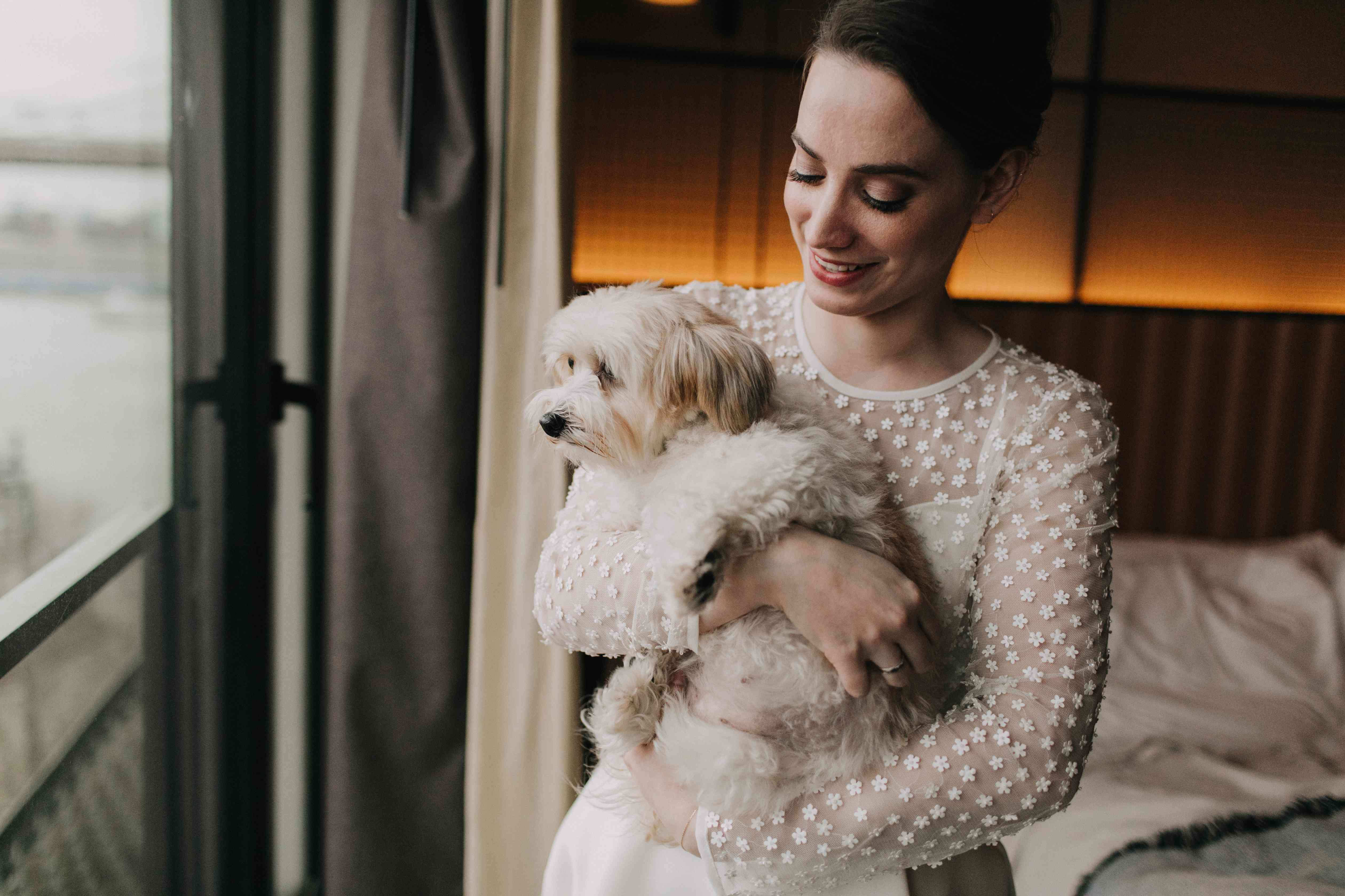 Lilla and the couple's dog Pearl