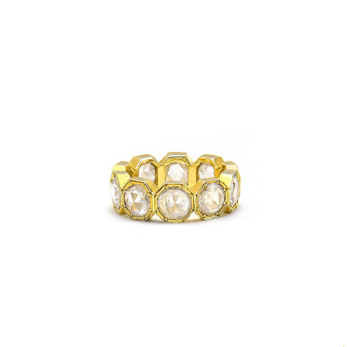Grace Lee 5MM Crown Bezel Diamond Eternity Ring