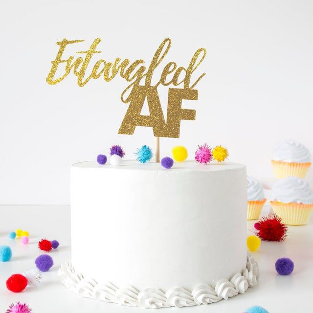 Entangled AF Cake Topper
