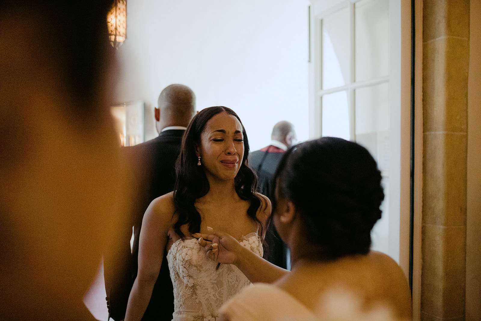 bride during prayer