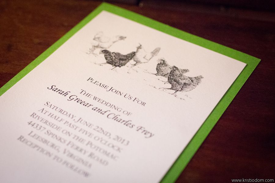 Invitations with chickens