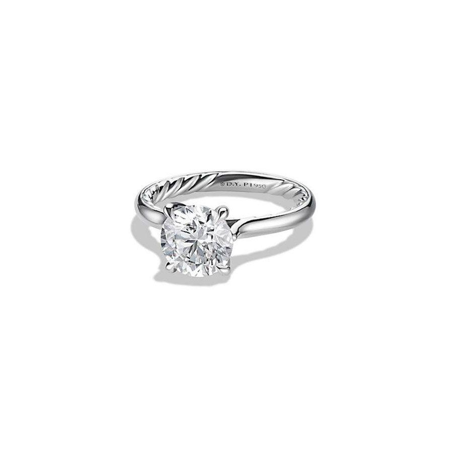 David Yurman Round-Cut Diamond Engagement Ring