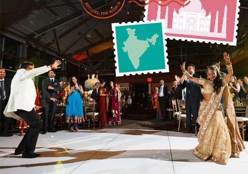 Indian wedding traditions custom artwork