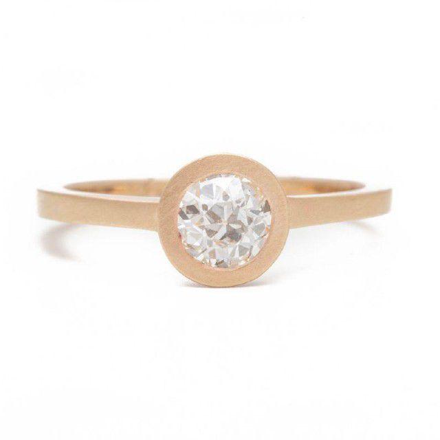 gold hidden halo ring