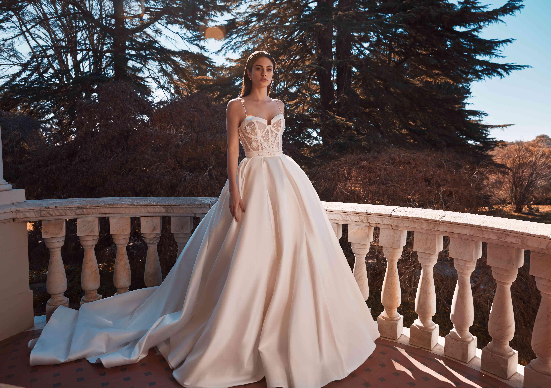 Claudette A-line wedding skirt