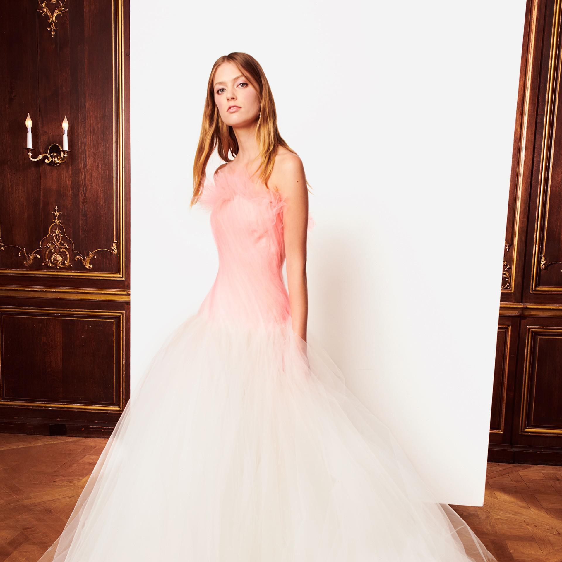 "Картинки по запросу ""pale pink wedding dress"""