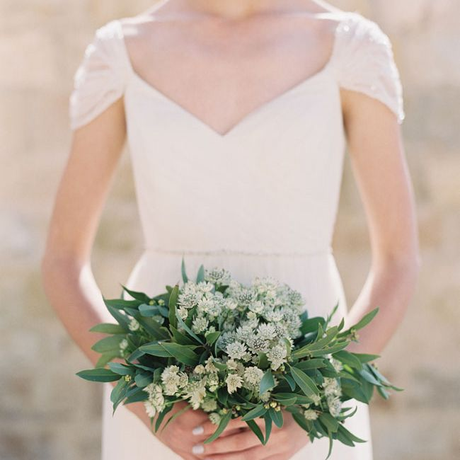 The Prettiest All Greenery Bridal Bouquets