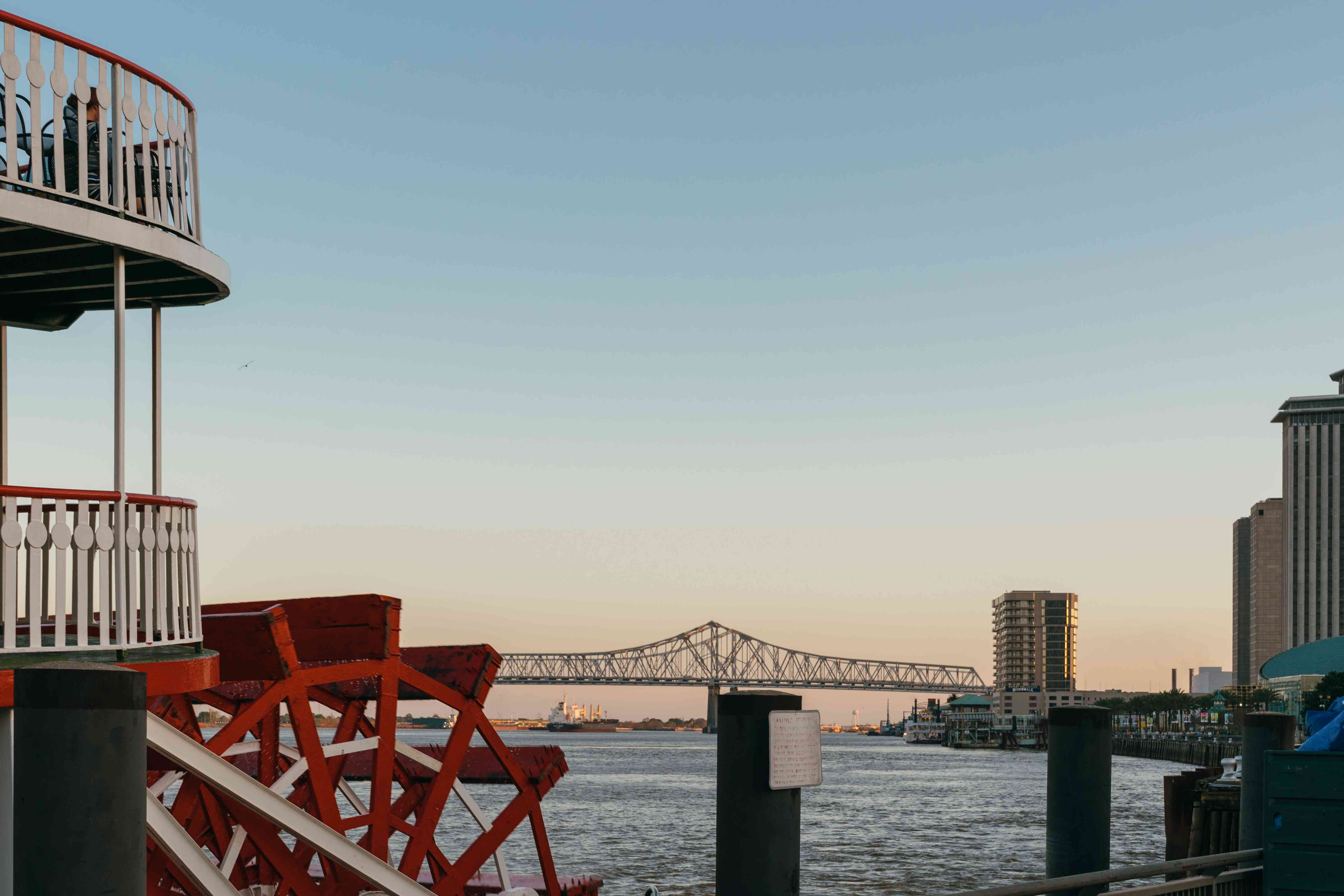 View from the Steamboat Natchez in New Orleans