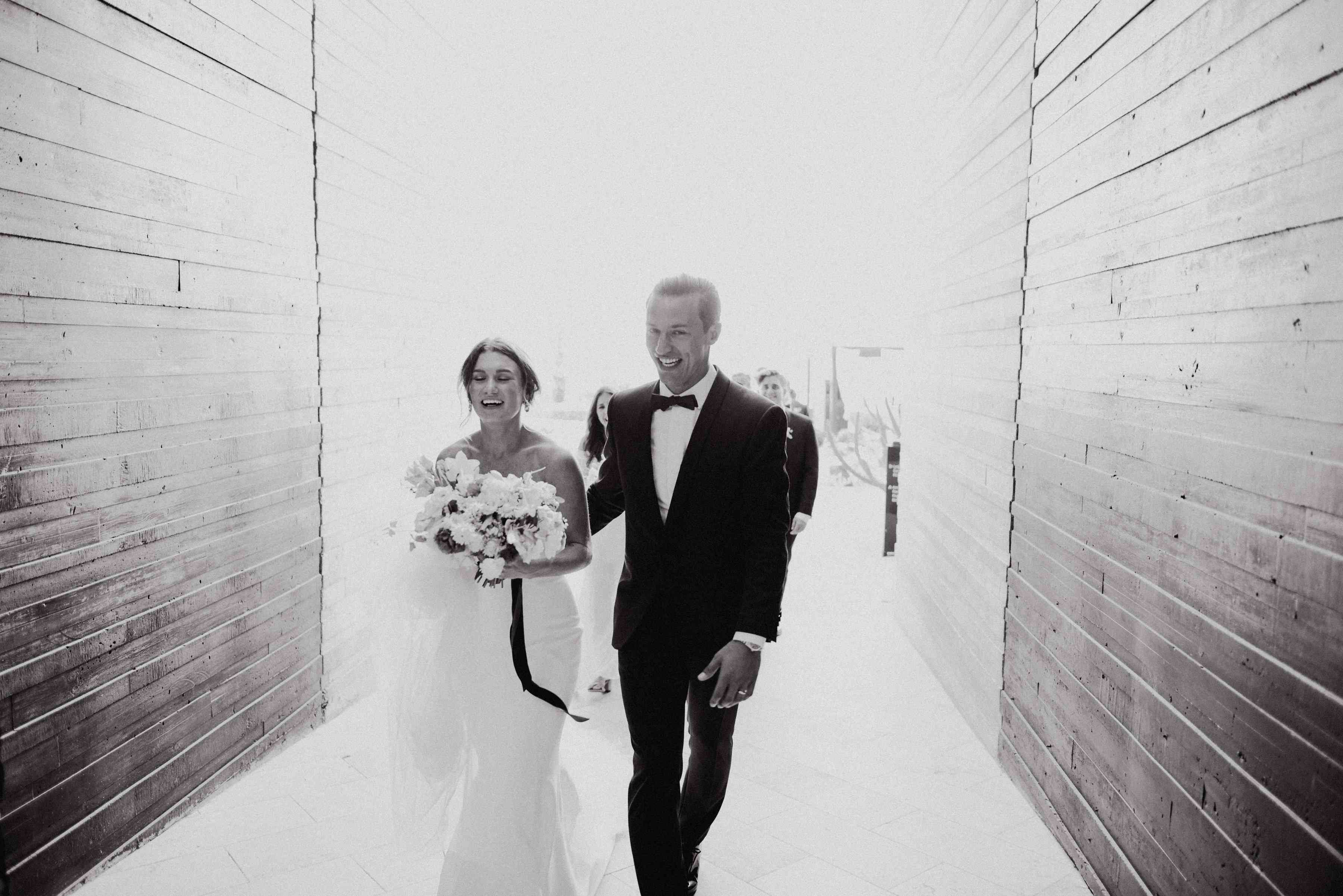 Bride and Groom During recessional