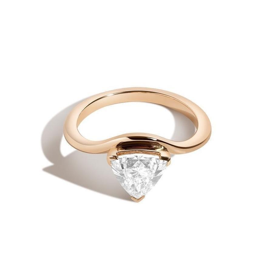 Shahla Karimi Triangle Eye Ring