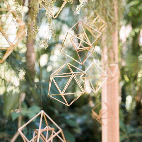Geometric hanging decor