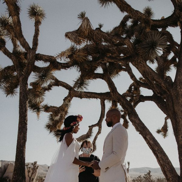 Couple getting married in elopement