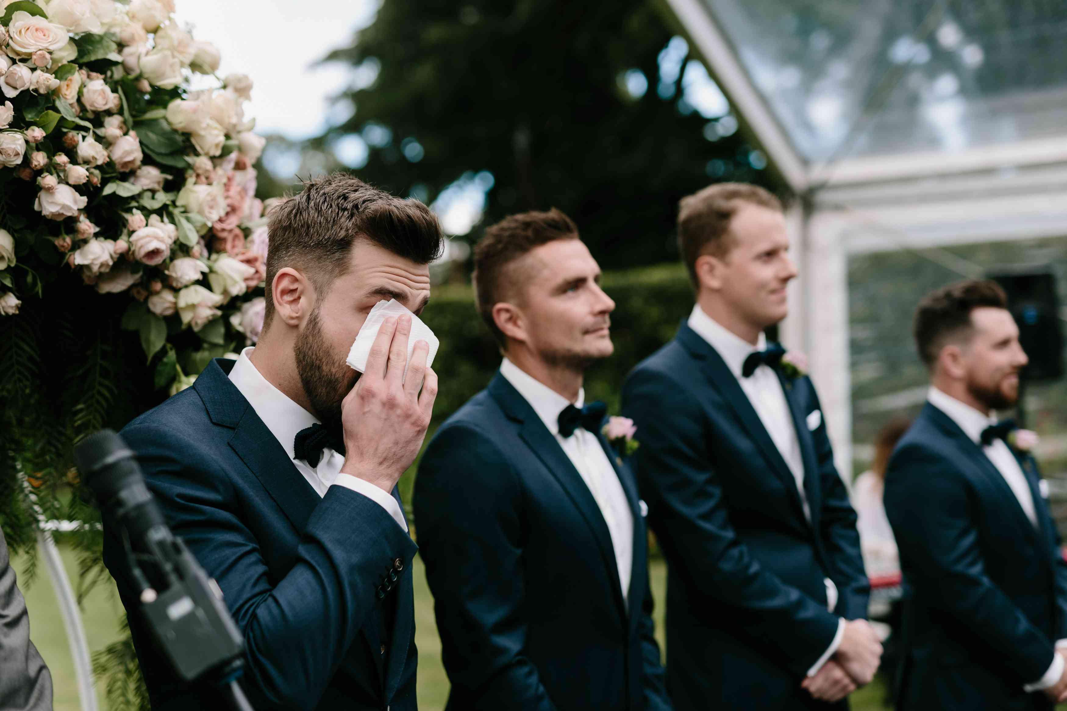 <p>groom crying</p><br><br>