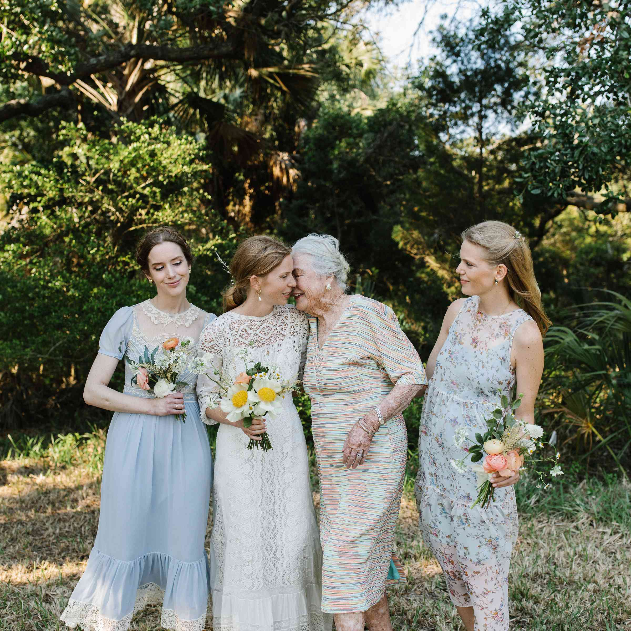 <p>bride with sisters and grandmother</p><br><br>