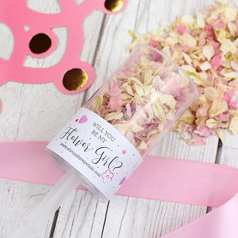 Etsy Flower Girl Proposal Confetti Pop