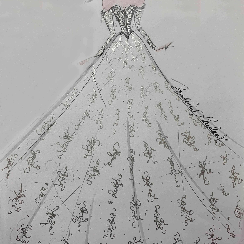 Madeline Gardner Bridal Fashion Week Fall 2020 Sketch