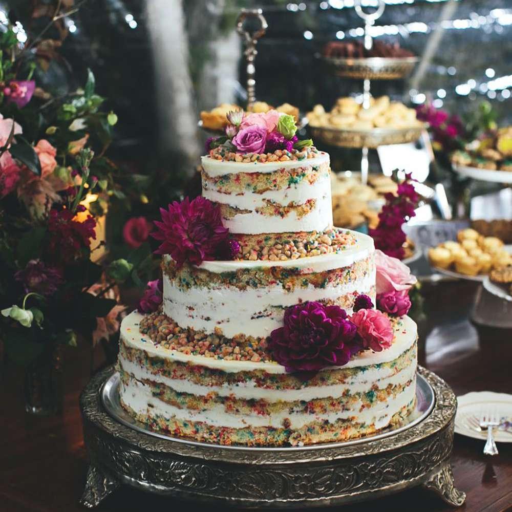 Momofuku rainbow naked wedding cake