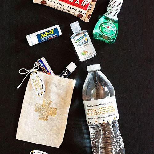 A Wedding Favor Your Guests Will Actually Use: Hangover Kits