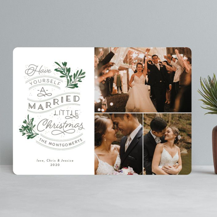 Minted A Little Married Holiday Cards