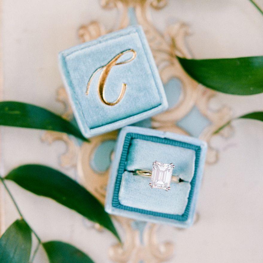 Single Initial Monogram Ring Box