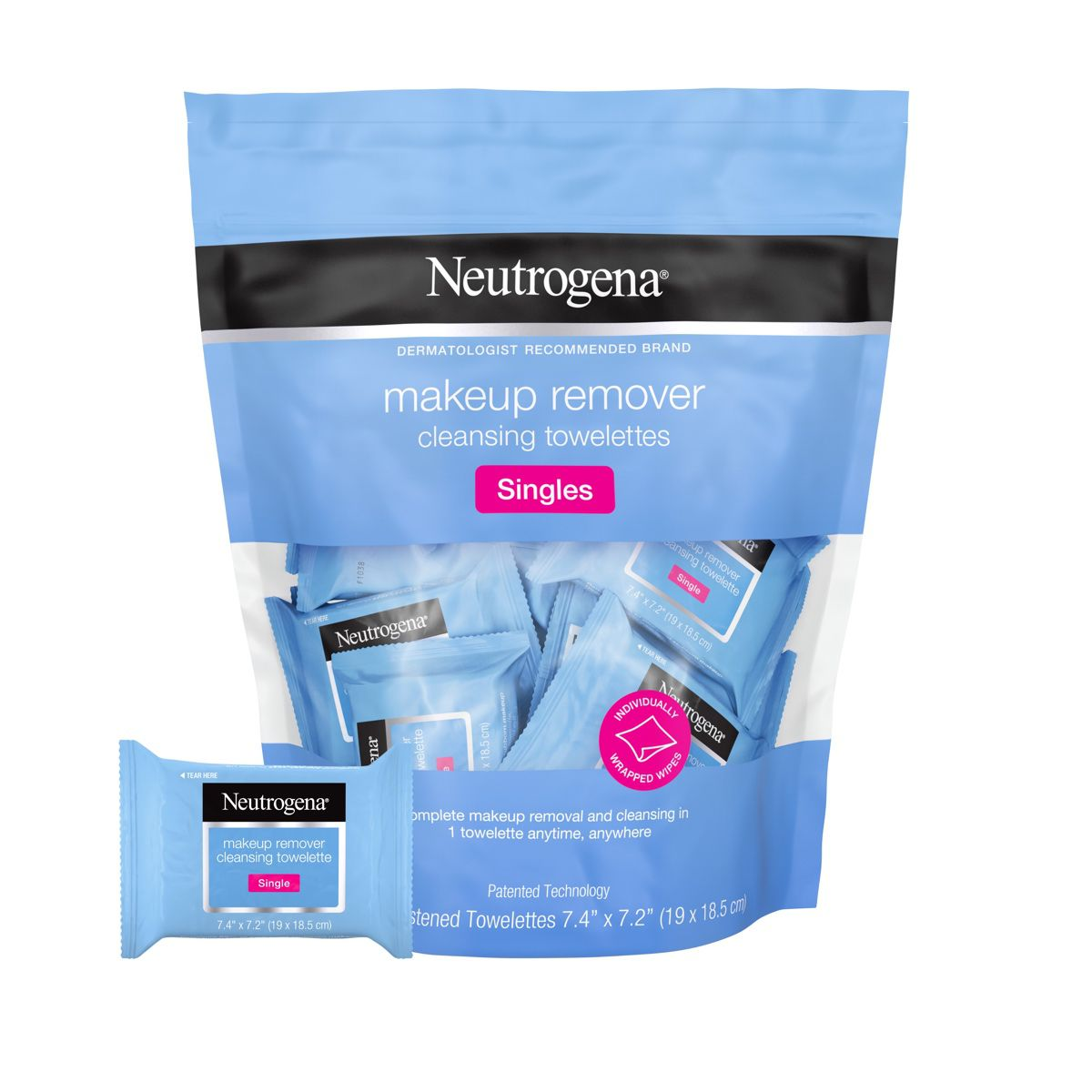Individually Wrapped Neutrogena Makeup Remover Wipes