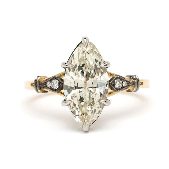 Sofia Kaman Marquise Engagement Ring