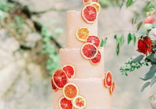 grapefruit wedding cake
