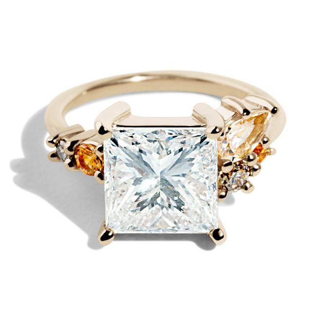 Bario Neal Custom Heirloom Princess Cut Diamond Cluster Ring