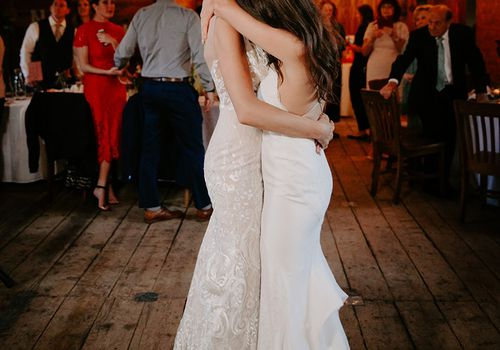 Two Brides Sharing First Dance