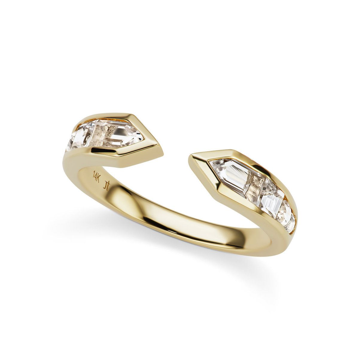 Jane Taylor Cirque Meeting Arrows Ring with White Topaz