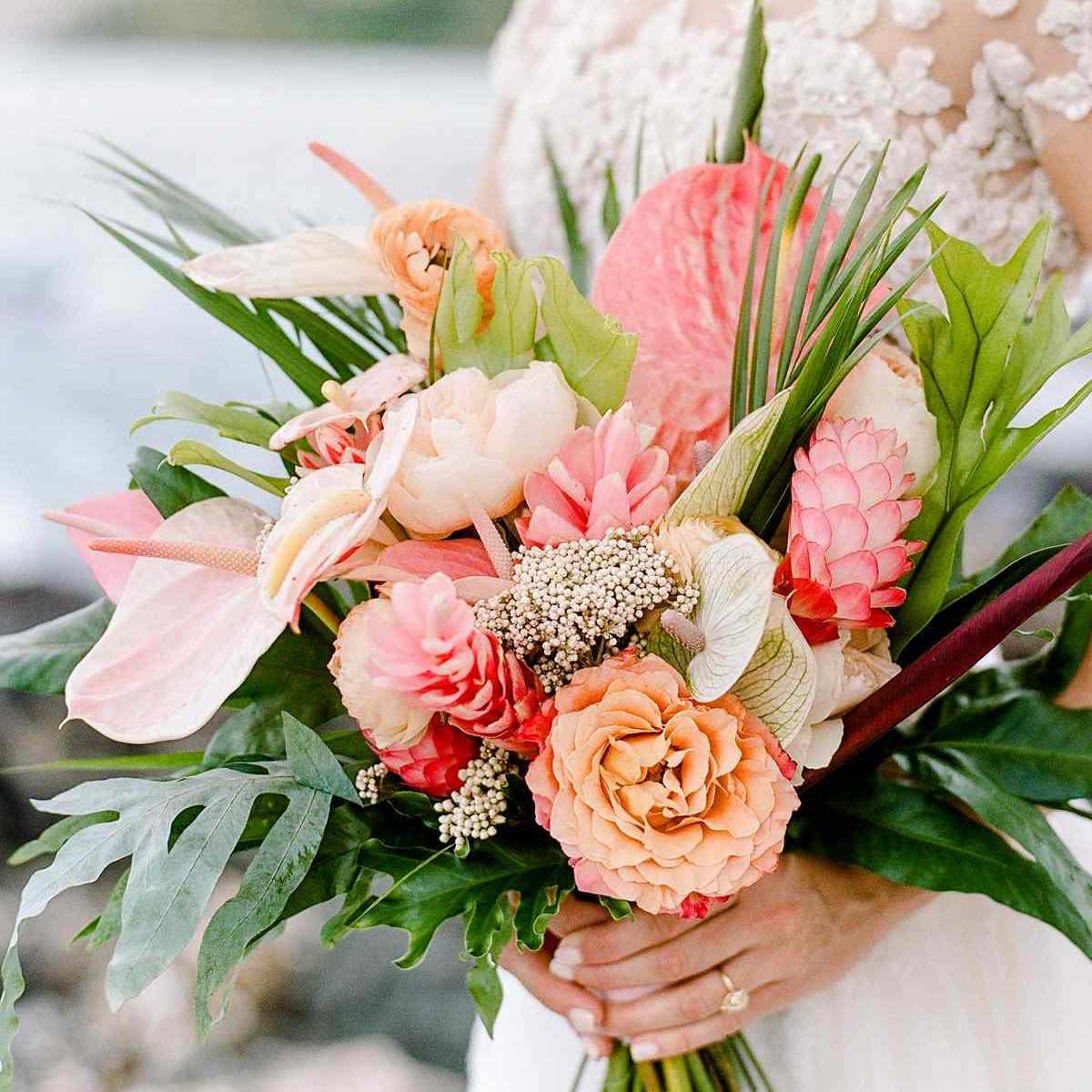 tropical wedding bouquets