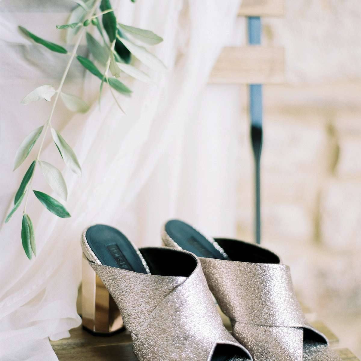 Bride's second pair of shoes