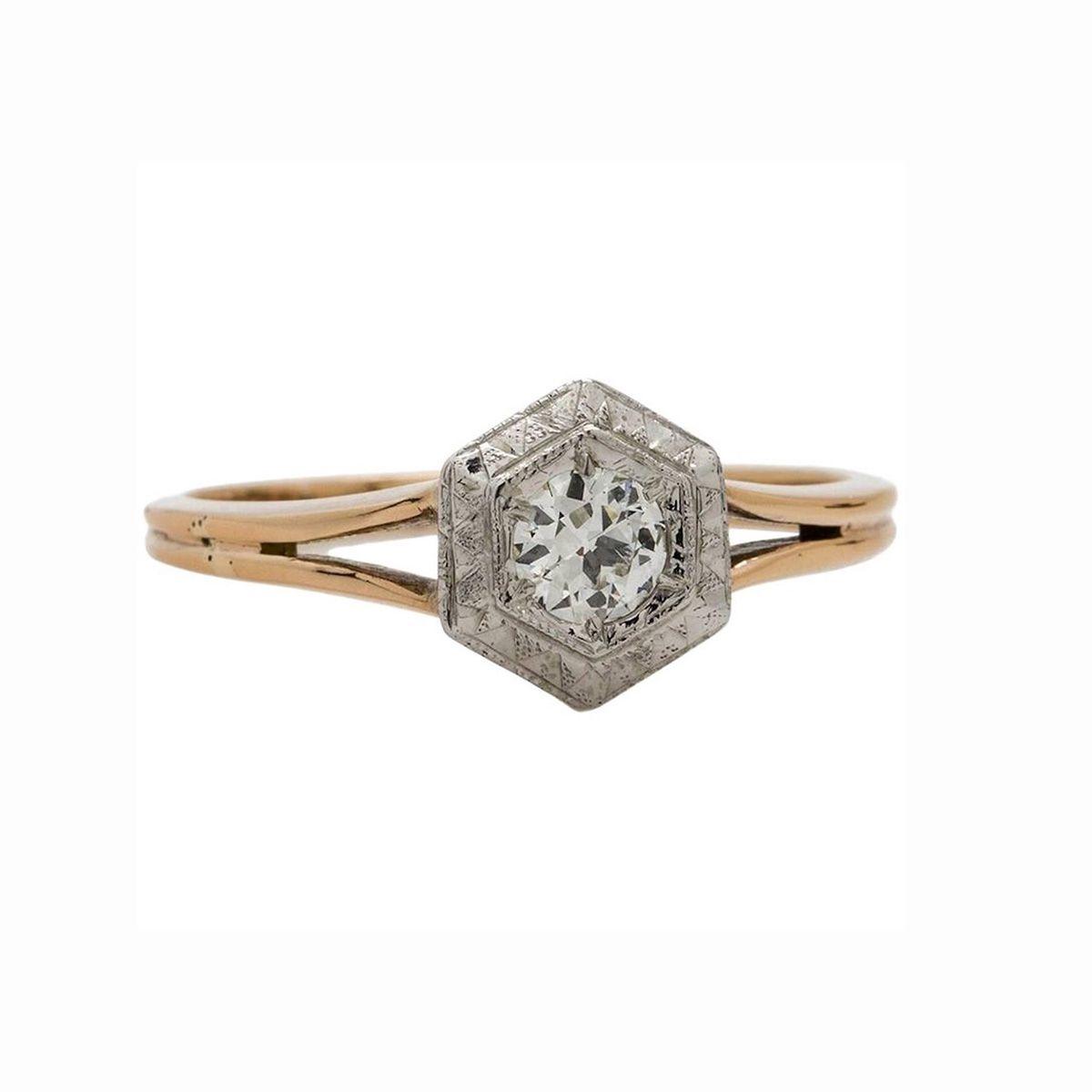 38 Hexagon Engagement Rings For The Alternative Bride