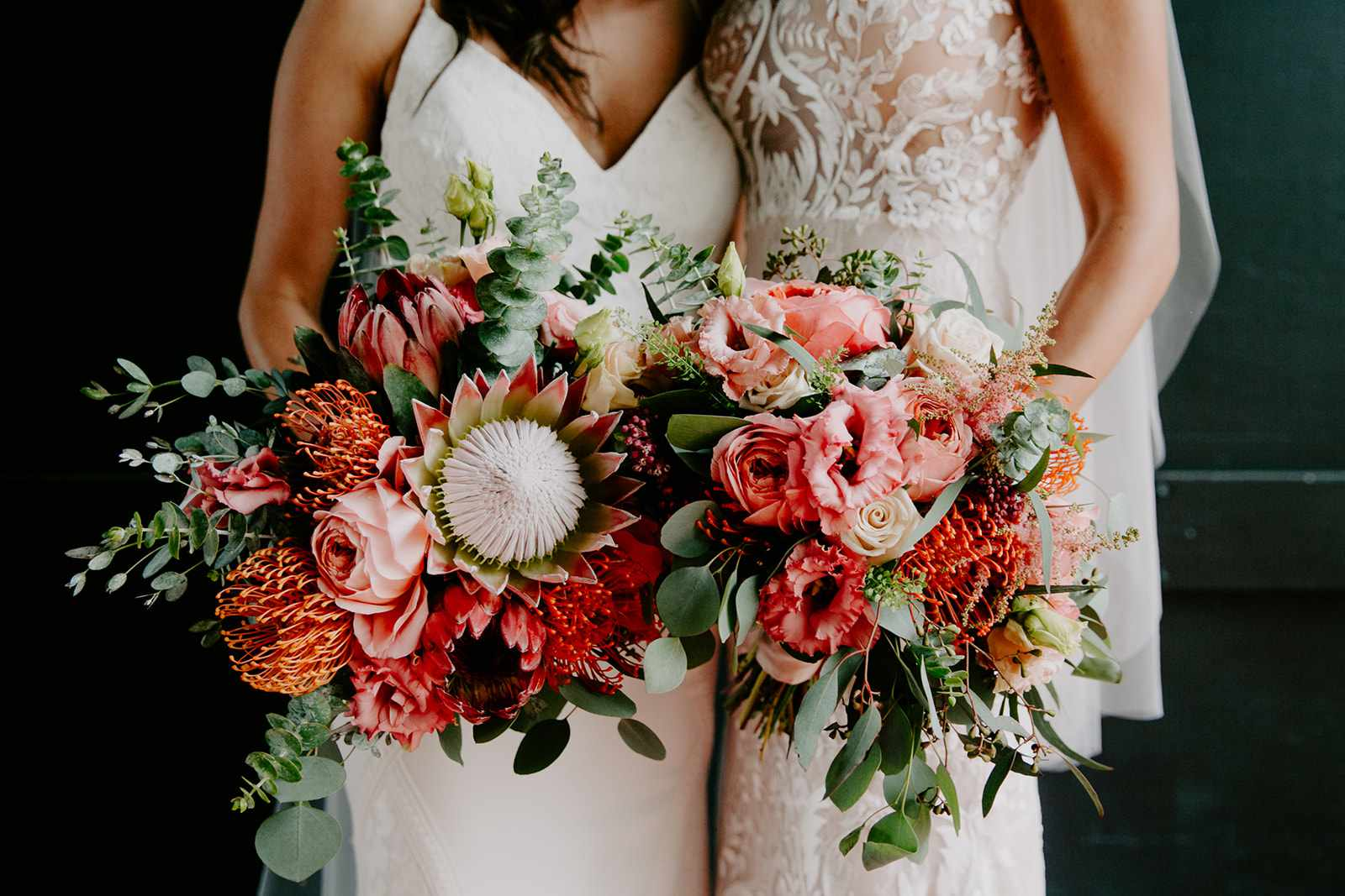 <p>brides' bouquets</p><br><br>